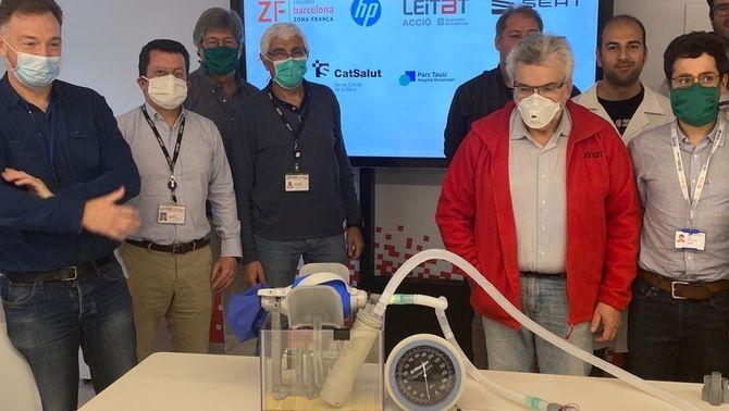 Un respirador 3D d'urgència fet a Catalunya, validat mèdicament