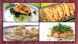 Quatre receptes amb salmó