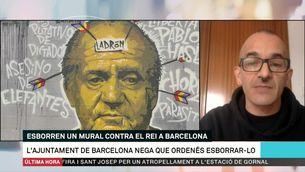 """Roc Blackblock: """"No queda clar qui ha decidit esborrar el mural"""""""