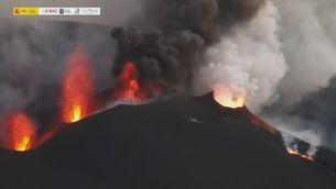 Com canvia la fisonomia del volcà de La Palma: així evolucionen les quatre boques