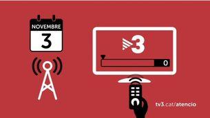 A Girona, Tarragona i Lleida pot ser necessari ressintonitzar els canals de TV3, que milloren la cobertura i la qualitat arreu del territori