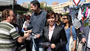 Alícia Sánchez-Camacho, presidenta del PPC, a Badalona (Foto: ACN)