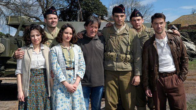 """Una imatge de l'equip, durant el rodatge de """"Tornarem"""""""