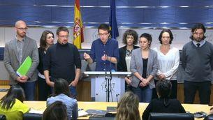"""Errejón, cap de l'equip negociador de Podem, creu que el pacte del PSOE i C's """"no és progressista ni reformista"""""""