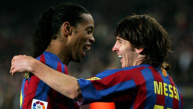 Ronaldinho i Messi