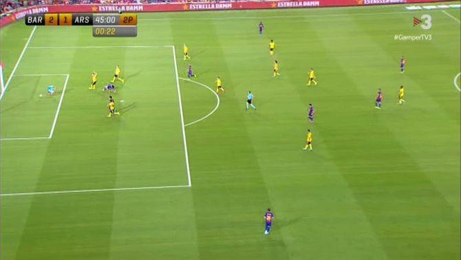 El segon gol del Barça, ahir, a TV3.