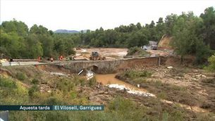 Els pobles de les Garrigues intenten tornar a la normalitat després de la tempesta d'ahir
