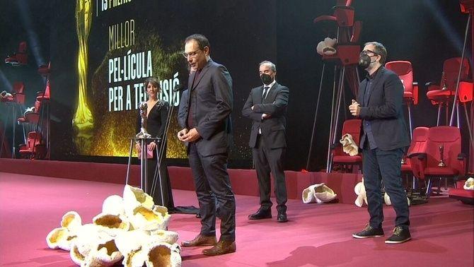 Marc Roma recull el premi de millor film de TV per a 'La mort de Guillem'