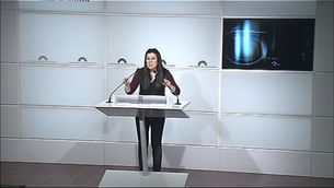 Isabel Vallet, diputada de la CUP.