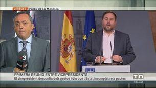 Reunió d'Oriol Junqueras amb Soraya Sáenz de Santamaría a La Moncloa