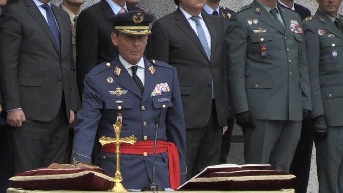 Miguel Ángel Villarroya, en la seva presa de possessió com a nou cap de l'exèrcit