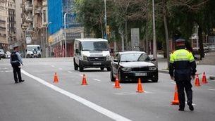 Control de trànsit a Barcelona el 31 de març del 2020 (Europa Press/David Zorrakino)