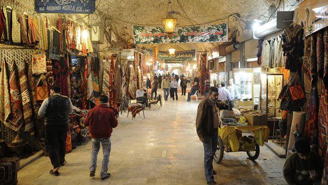El mercat medieval d'Alep, pràcticament reduït a cendres pels combats