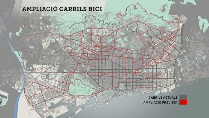 Barcelona tindrà més de 300 quilòmetres de carril bici el 2018