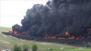 Incendi en un abocador il·legal de pneumàtics a Seseña