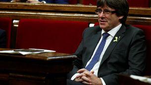 Carles Puigdemont al Parlament (Reuters)