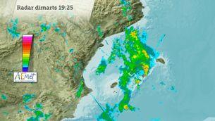 Evolució de les pluges d'ahir a les Balears