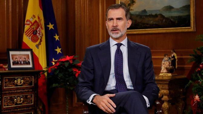 """El rei cita Catalunya com una de les """"serioses preocupacions"""" que té Espanya"""