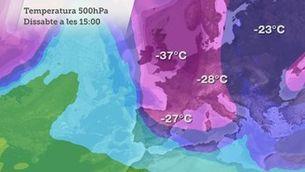 L'arribada del fred i la neu hora a hora