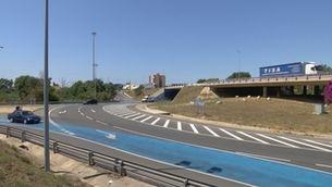 Confusió en una rotonda convertida en turborotonda en l'autovia de Reus a Tarragona