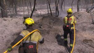 Estabilitzat l'incendi de Ventalló