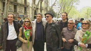 Escriptors italians desembarquen a la Rambla