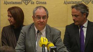 Albert Ballesta, a la roda de premsa d'aquest dimarts en què ha renunciat al càrrec d'alcalde de Girona