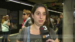 Andanes plenes arran de la vaga del metro