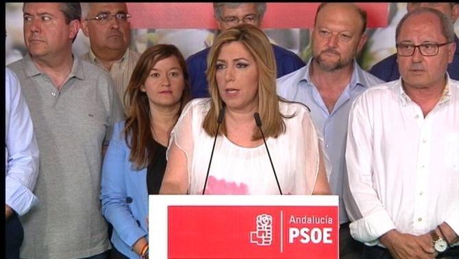 """Susana Díaz diu que el PSOE """"ha d'actuar en conseqüència"""" després que els ciutadans no hi hagin confiat"""
