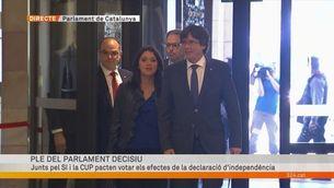 L'arribada de Carles Puigdemont al Parlament