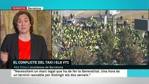 """Ada Colau: """"Demano consens al conseller, i als taxistes que no col·lapsin la ciutat"""""""