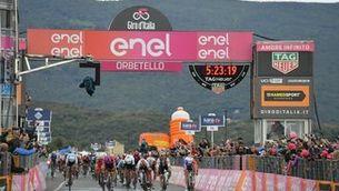 "Gaviria guanya la 3a etapa i Roglic manté la ""maglia rosa"""