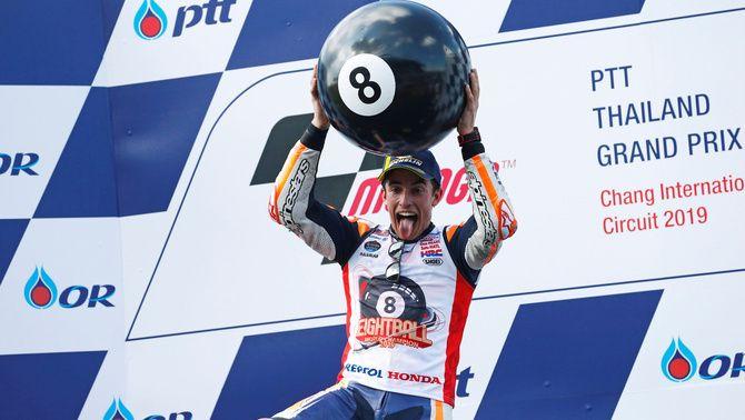 Marc Márquez suma el vuitè títol de campió del món