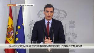 """Sánchez: """"L'estat d'alarma afecta tot el territori espanyol i l'autoritat competent és el govern espanyol"""""""