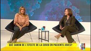 Mònica Arias i la seva doctora, Montserrat Tura