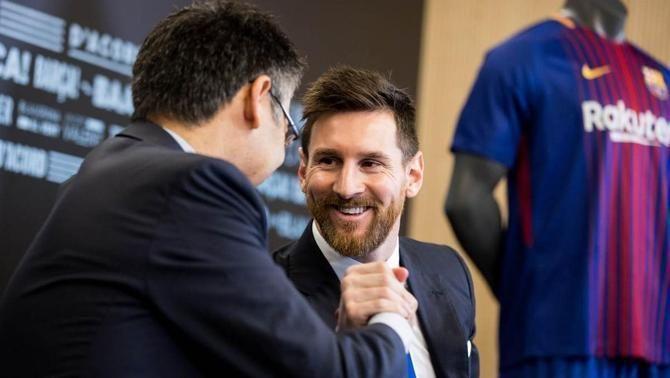 """Bartomeu, a Esport3:  """"És totalment fals que jo hagi filtrat el contracte de Messi"""""""
