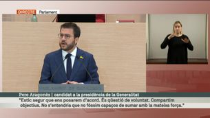 Segon discurs d'investidura de Pere Aragonès