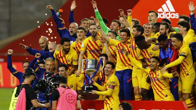 Un Barça infal·lible atropella l'Athletic i conquereix la Copa del Rei (0-4)