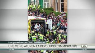 Una mobilització massiva a Glasgow atura la devolució de dues persones al seu país d'origen