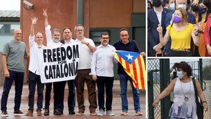 Surten en llibertat els nou líders independentistes indultats