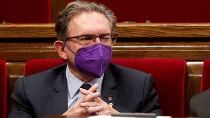 El conseller d'Economia, Jaume Giró, en una sessió recent al Parlament (EFE/Quique Garcia)