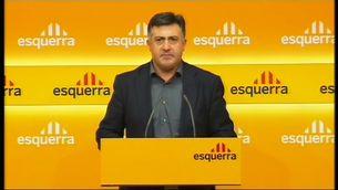 Joan Puigcercós, en la roda de premsa