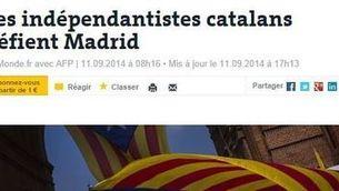"""La informació de la V, a """"Le Monde""""."""