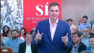 Pedro Sánchez, en l'acte a Vigo