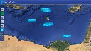 Zona on va desaparèixer l'avió d'Egyptair