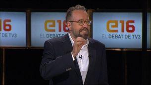 Girauta respon una pregunta de l'audiència del debat