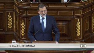 """Rajoy: """"No hi ha mediació possible entre la llei i la desobediència"""""""