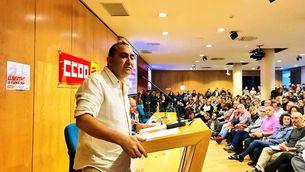 El secretari general de CCOO de Catalunya, Javier Pacheco, aquest dimarts a Barcelona