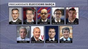 Qui són els precandidats a les eleccions del Barça?