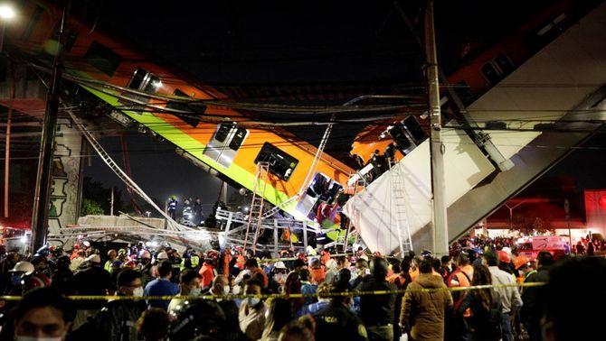 Almenys 24 morts i 80 ferits en enfonsar-se un tram del metro de Ciutat de Mèxic